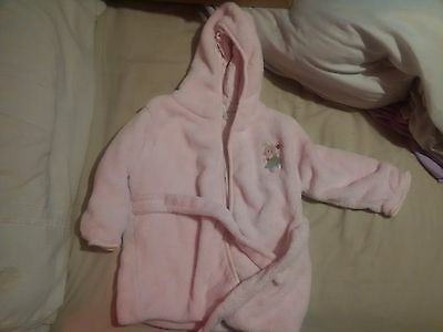 girls pink dressing gown size 18 - 24 months