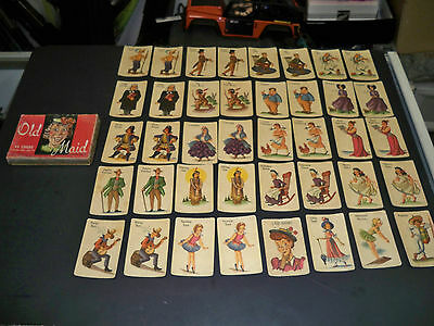Vintage Old Maid Card Game Whitman Publishing Co.