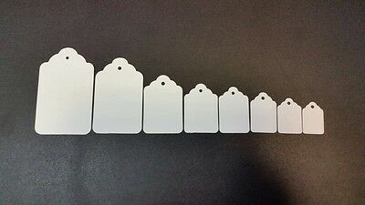 White UnStrung String Kraft Tags Swing Price Tickets Jewellery Labels