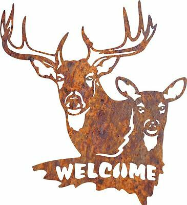 DXF CNC dxf for Plasma Router Clip Art Vector Buck and Doe Welcome Man Cave