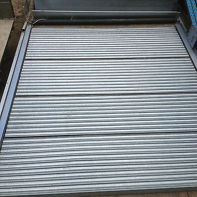 Electric Roller Shutter Door 3m x 3m Removed with care complete with canopy/hood