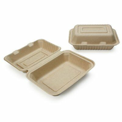 """400 Ct. Earth's Natural 9""""x6""""x3"""" Clamshell Container ECO Friendly Ecob029cse"""