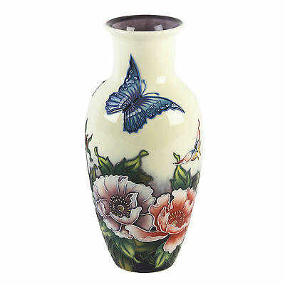 """Butterfly & Flowers Old Tupton Ware 8.5""""  Vase New And Boxed.special Offer"""