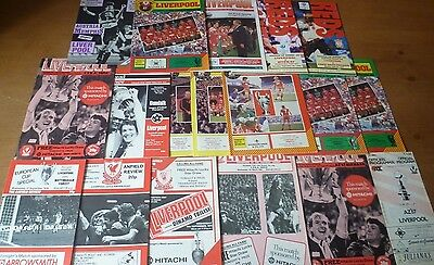 18x Liverpool, European Match Programmes, 1978-97.