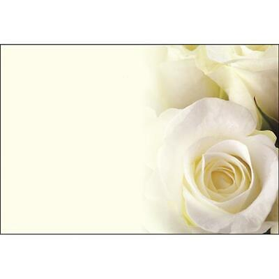 Plain Floristry Message and Floral Gift Cards with Images of Flowers Pack of 50