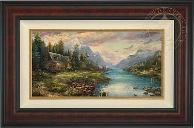 Thomas Kinkade Studios A Father's Perfect Day 12 x 24 LE G/P Framed Canvas