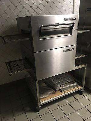 Lincoln Impinger Conveyor Double Stack Pizza Oven on new stand