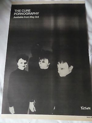 """The Cure """"pornography"""" 1982  Advert Full Page  Fiction Label Advert"""