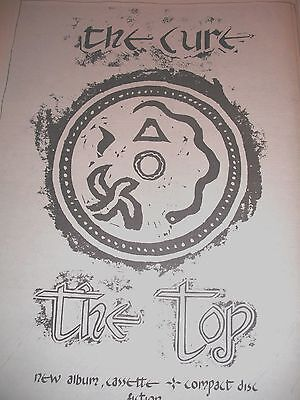 """The Cure """"the Top"""" 1984 Single Advert Full Page A3"""