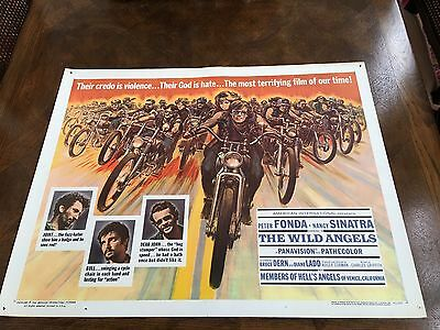 Original Movie Poster Vintage 1966 The Wild Angels