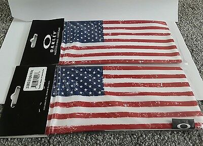 Oakley USA Flag microfiber bag case cleaning cloth x metal