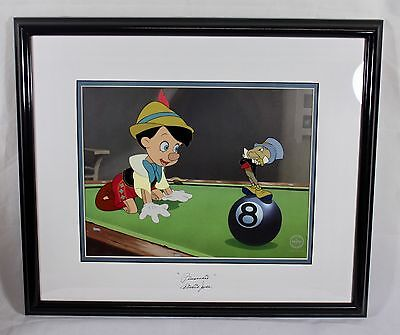 DISNEY, 'Behind the Eight Ball' Pinocchio Cel, Serigraph