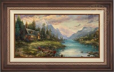 Thomas Kinkade Studios Father's Perfect Day 18 x 36 LE E/E Canvas (Framed)