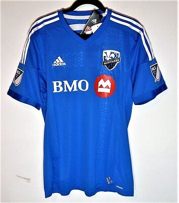 Montreal Impact adidas Authentic primary blue jersey MLS soccer - Small