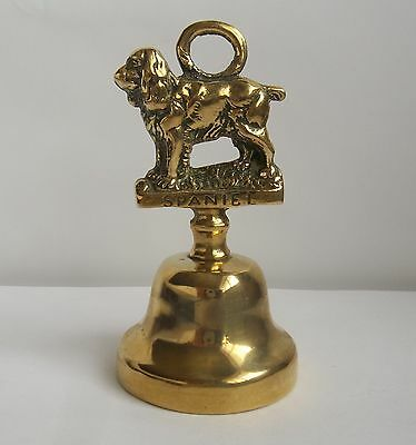 Vintage Spaniel Dog Brass Bell 4½ inches tall