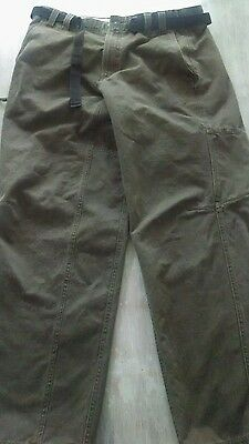 Mens Columbia outdoor pants, green, size 36x32
