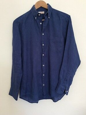 Chemise Lin Homme Club Med Taille S Bleue Indigo