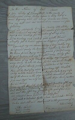 Old Documents - Will from 5 May 1764