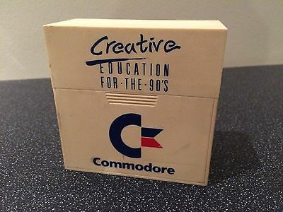 Vintage Commodore Amiga C64 Floppy Disk Case Creative Education For the 90's