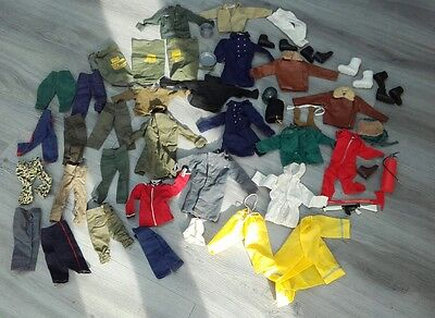 Vintage Palitoy Action Man Bundle of Clothes Spares or Repairs Large Lot