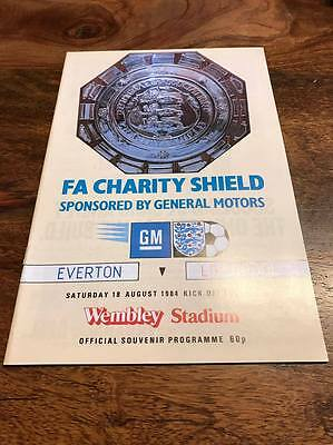 Everton V Liverpool 1984 Fa Charity Shield Programme Mint Free Postage Look