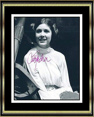 Star Wars - Carrie Fisher (d.2016) - Original Hand Signed Autograph - Very Rare!