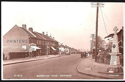 Bristol Badminton Road  Photo Postcard.p.used 1950
