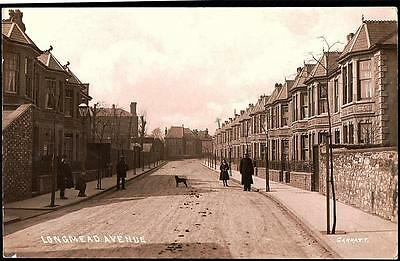 Bristol Longmead Avenue.   Photo Postcard.p.used 1908