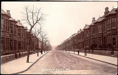 Bristol Shefton Park Road Photo Postcard.p.used 1911