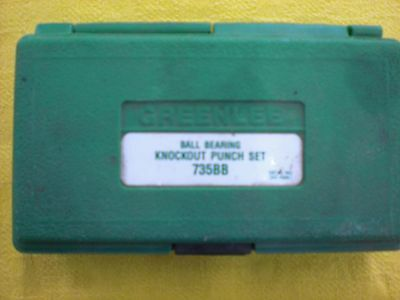 Greenlee 735Bb Knockout Punch Set, Green Lee