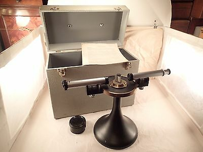 Vintage BELLINGHAM & STANLEY Optical Prism 2-Arm Spectroscope / Spectrometer