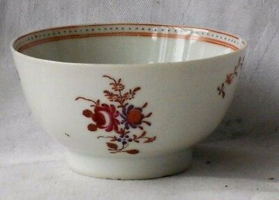 C18Th Chinese Tea Bowl With A Floral Pattern