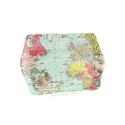 World Traveller Atlas Map Small Melamine Snack Crumb Tray