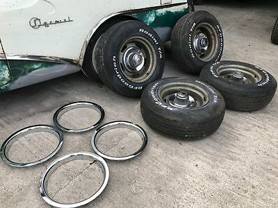 Corvette/Camaro/Nova      Rally Wheels mit Reifen und Center Caps