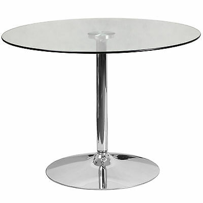 Round Glass Dining Table Flash Furniture FREE SHIPPING (BRAND NEW)