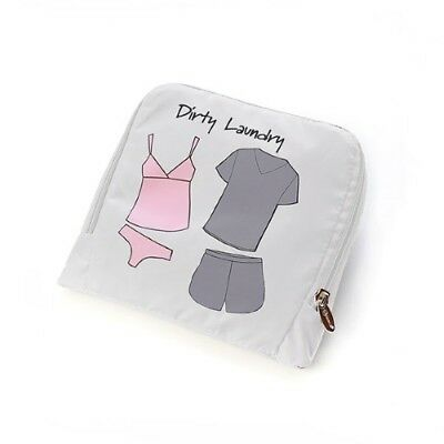"Miamica White ""Dirty Laundry"" Travel Garment Laundry Bra Hosiery Bag"