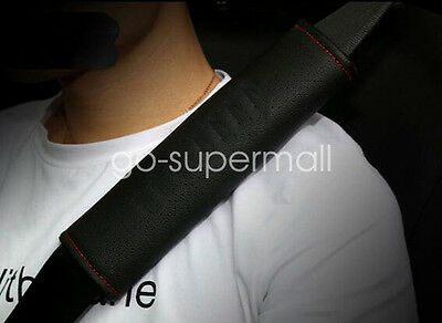 Red 2x Soft Safety Car Seat Belt Covers Shoulder Pads Luggage Straps Adjust