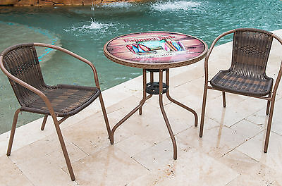 Cafe of the Boards 3 Piece Bistro Set Panama Jack FREE SHIPPING (BRAND NEW)