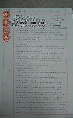 Old Conveyancing Deed - Velum Paper from 1974