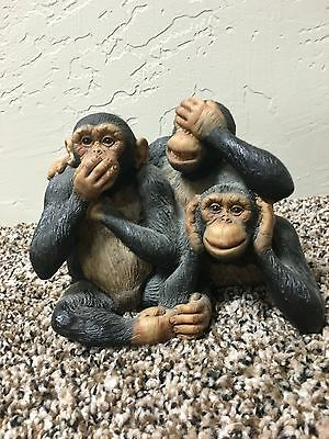 See Hear Speak No Evil Collectible Figurine Great Condition