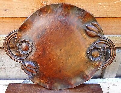 Chinese Carved Wooden Tray Lily Pad