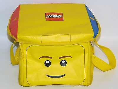LEGO Head ZipBin Storage Case & Play Mat City Construction Police Officer Faces