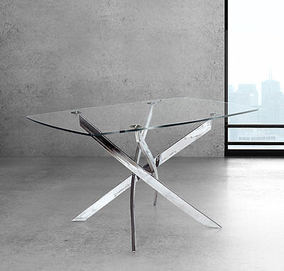 Coraline Glass Top Modern Dining Table Wade Logan FREE SHIPPING (BRAND NEW)