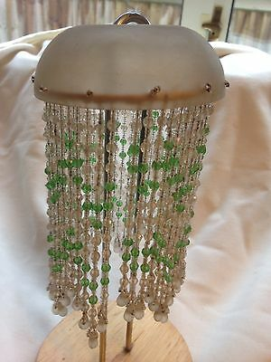 Antique Edwardian Glass Light/lamp Pendant Shade
