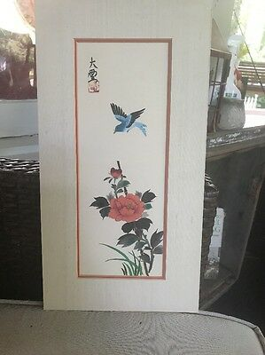 Hand Signed Chinese Silk Painting