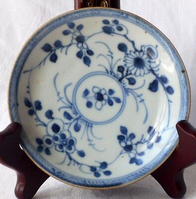 C18Th Chinese Ca Mau Shipwreck Cargo Blue And White Batavian Dish With Flowers