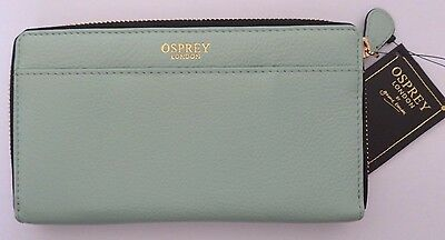 Osprey London Leather Large Ladies Zipped Purse Wallet (Turquoise)