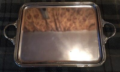 Stunning Antique French Silverplated Tray - 43.5x30cm - Maker CV