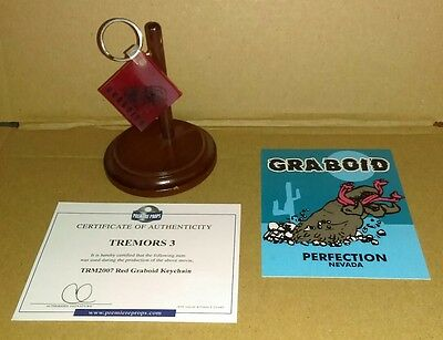 TREMORS 3 - Screen Used Prop lot - COA - Horror - Graboids RARE Sci-Fi