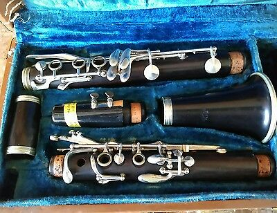 Vintage Bertiot Paris Clarinet In Case
